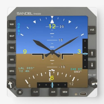 JFVisualMedia Aircraft Attitude Artificial Horizon wall Clock