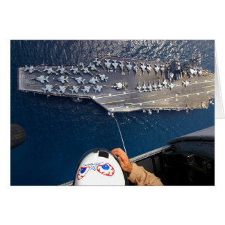 Aircraft Carrier as seen from Seahawk Helicopter Card