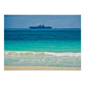 Aircraft Carrier Colors Poster