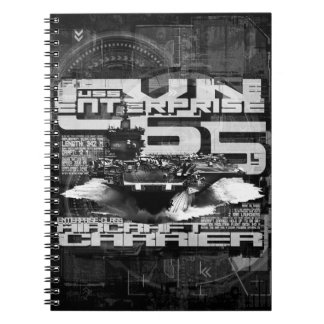 Aircraft carrier Enterprise Spiral Photo Notebook