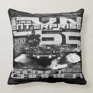 Aircraft carrier Enterprise Throw Pillow