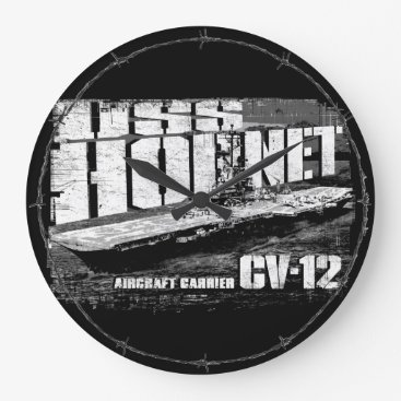 Beach Themed Aircraft carrier Hornet Acrylic Wall Clock