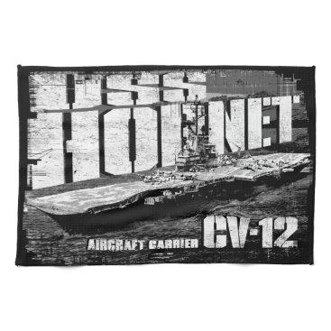 Beach Themed Aircraft carrier Hornet Kitchen Towels