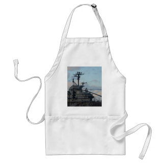 Aircraft Carrier In New York Adult Apron