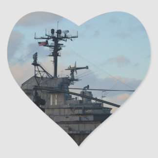 Aircraft Carrier In New York Heart Sticker