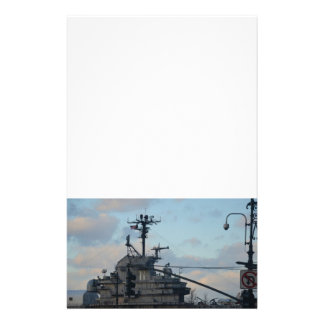 Aircraft Carrier In New York Personalized Stationery