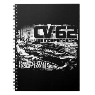 Aircraft carrier Independence Fuji notebook