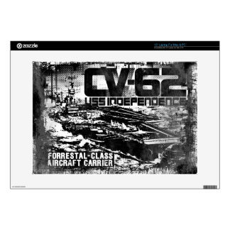 """Aircraft carrier Independence Musicskins skin Skins For 15"""" Laptops"""