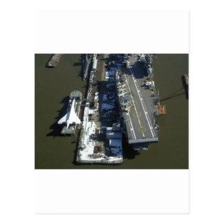 Aircraft Carrier Intrepid New York city Postcard