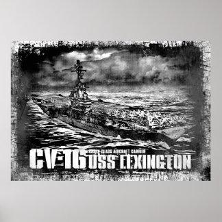 Aircraft carrier Lexington Print