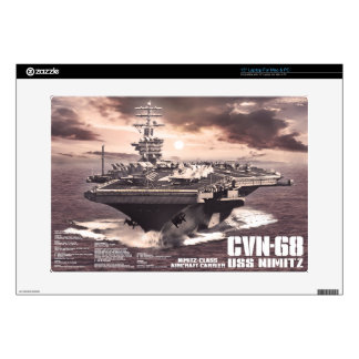 "Aircraft carrier Nimitz Musicskins skin 15"" Laptop Skin"