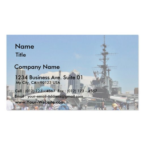 Aircraft Carrier Ship Business Cards