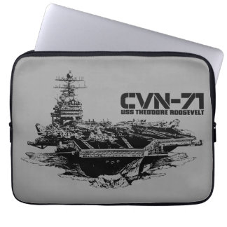 Aircraft carrier Theodore Roosevelt Fuji electron Laptop Sleeve