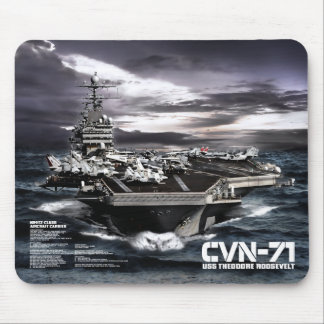 Aircraft carrier Theodore Roosevelt Mouse Pad