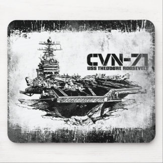 Aircraft carrier Theodore Roosevelt Mousepad