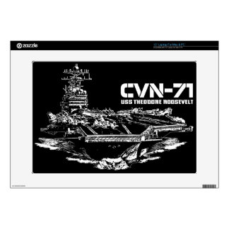 "Aircraft carrier Theodore Roosevelt Musicskins sk Decals For 15"" Laptops"