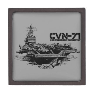 Aircraft carrier Theodore Roosevelt Planetjill gi Jewelry Box