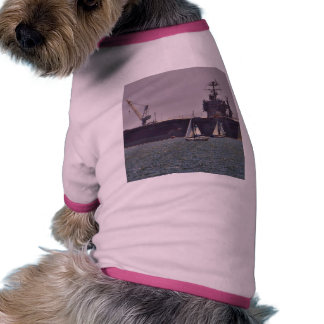 Aircraft Carriers Boats Ships Doggie Tshirt