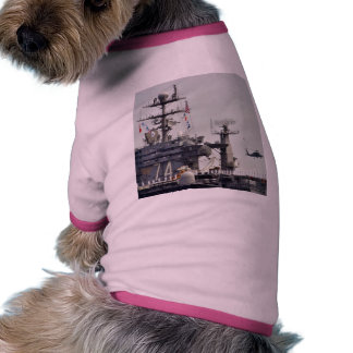 Aircraft Carriers Helicopters Ships Navy Sailors Doggie Tee Shirt