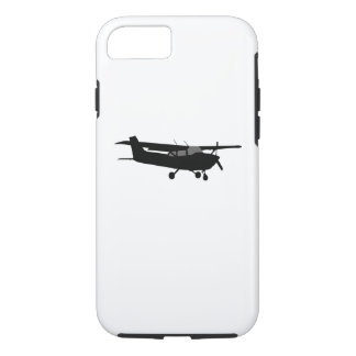 Aircraft Cessna Black Silhouette Flying Decor iPhone 7 Case