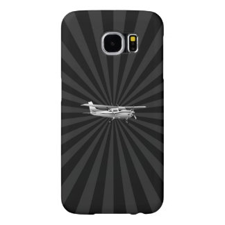 Aircraft Cessna Silhouette Flying Sunburst Decor Samsung Galaxy S6 Case
