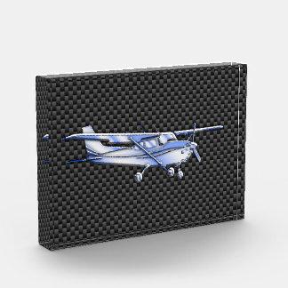 Aircraft Chrome Like Cessna Black Carbon Fiber Acrylic Award
