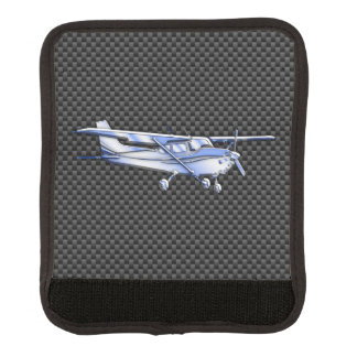 Aircraft Chrome Style Cessna Flying Carbon Fiber Luggage Handle Wrap
