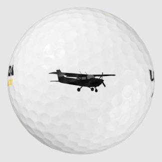 Aircraft Classic Cessna Black Silhouette Flying Golf Balls