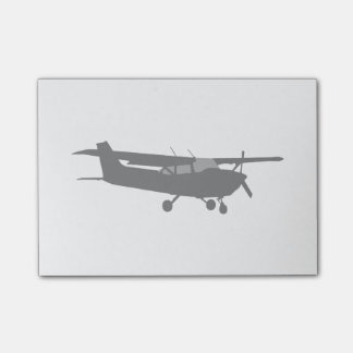 Aircraft Classic Cessna Black Silhouette Flying Post-it Notes