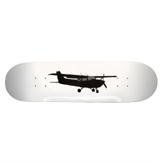 Aircraft Classic Cessna Black Silhouette Flying Skateboard Deck