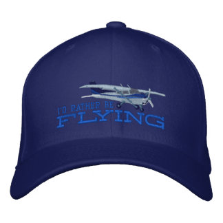 Aircraft Classic Cessna I'd Rather Be Flying Embroidered Baseball Cap