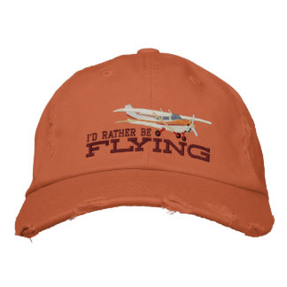 Aircraft Classic Cessna I'd Rather Be Flying Embroidered Baseball Hat