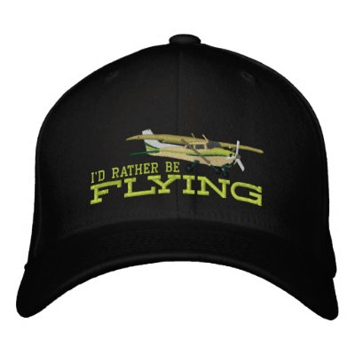 f5574cf61d24be Aircraft Classic Cessna I'd Rather Be Flying Embroidered Baseball Hat |  Zazzle.com