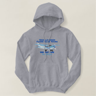 Aircraft Classic Cessna Pilot Custom Personalized Embroidered Hoodie