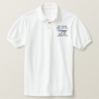 Aircraft Classic Cessna Pilot Custom Personalized Embroidered Polo Shirt