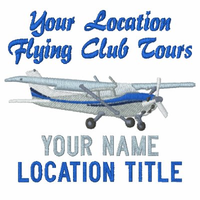 Aircraft classic cessna pilot custom personalized polo for Custom embroidered polo shirts no minimum order