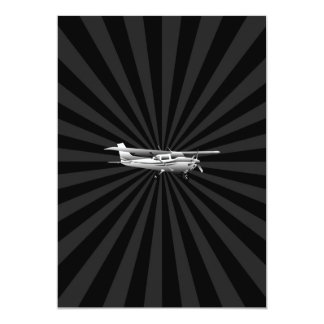 Aircraft Classic Cessna Silhouette Flying Burst Card
