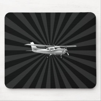 Aircraft Classic Cessna Silhouette Flying Burst Mouse Pad