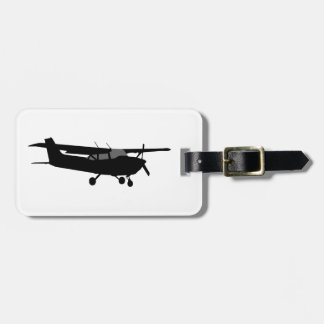 Aircraft Classic Cessna Silhouette Flying Bag Tag