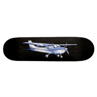Aircraft Classic Cessna Silhouette Flying on Black Skateboard Deck