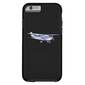 Aircraft Classic Cessna Silhouette Flying on Black Tough iPhone 6 Case