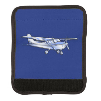 Aircraft Classic Cessna Silhouette Flying on Blue Handle Wrap