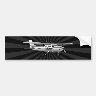 Aircraft Classic Cessna Silhouette Sunburst Bumper Sticker