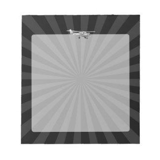 Aircraft Classic Cessna Silhouette Sunburst Notepad
