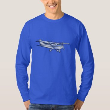 AmericanStyle Aircraft Classic Chrome Cessna Flying Carbon Fiber T-Shirt