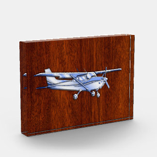 Aircraft Classic Chrome Cessna Flying Mahogany Award