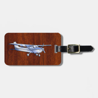 Aircraft Classic Chrome Cessna Flying Mahogany Bag Tag