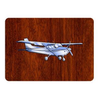 Aircraft Classic Chrome Cessna Flying Mahogany Card