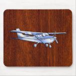 Aircraft Classic Chrome Cessna Flying Mahogany Mouse Pad