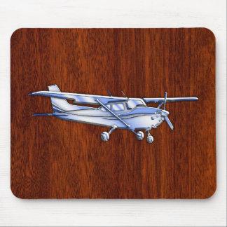 Aircraft Classic Chrome Cessna Flying Mahogany Mouse Pad